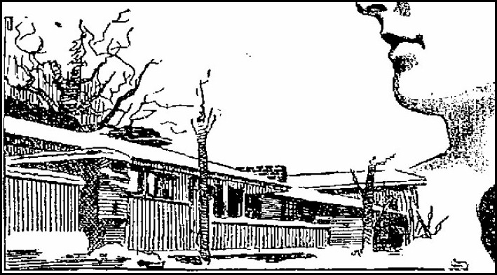 Drawing showing Taliesin's north facade