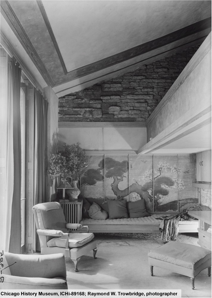 Photograph of Taliesin's Loggia by Raymond C. Trowbridge