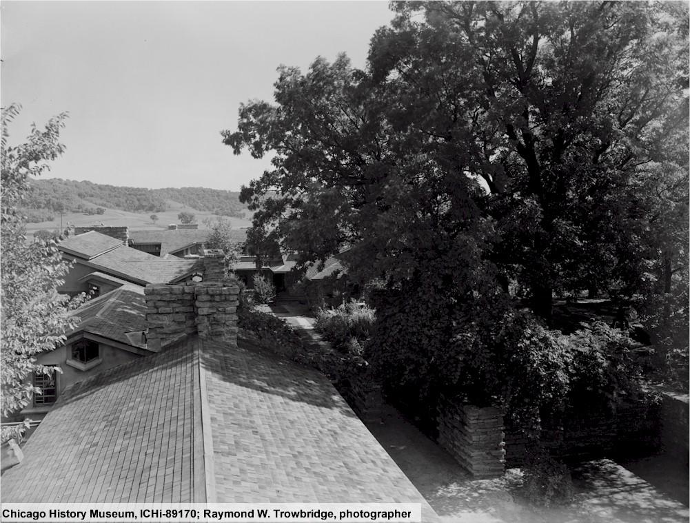Photograph at Taliesin taken by Raymond Trowbridge.