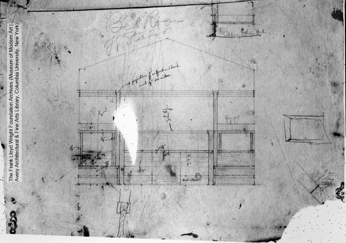 Drawing 7803.001 Frank Lloyd Wright Foundation Archives (Musum of Modern Art|The Avery Architectural & FIne Arts Library, Columbia University, New York)