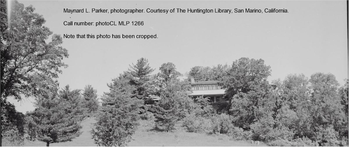 Photograph of Taliesin taken by Maynard Parker. Courtesy of The Huntington Library, San Marino, California.