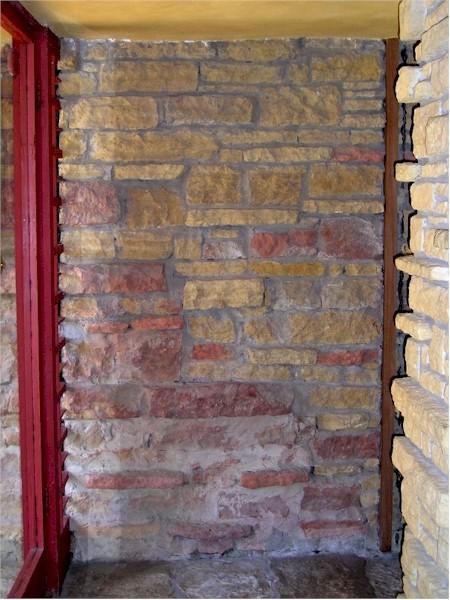 A photograph I took of a stone wall inside Taliesin.