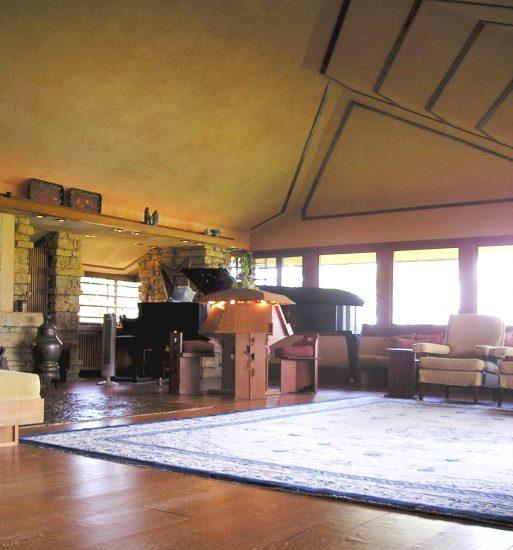 Looking (plan) northwest, Taliesin's living room