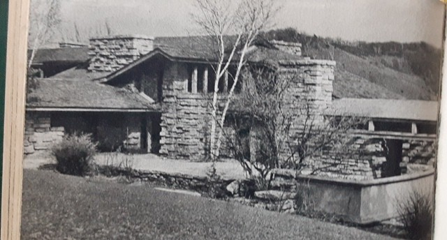 Looking from Taliesin's Hill Crown to its living quarters, 1937-1943.