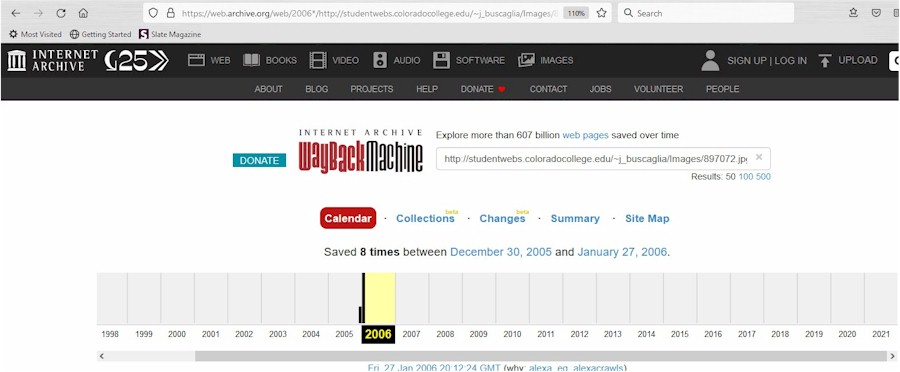 The Home Page of The Wayback Machine Home Page from Archive.org